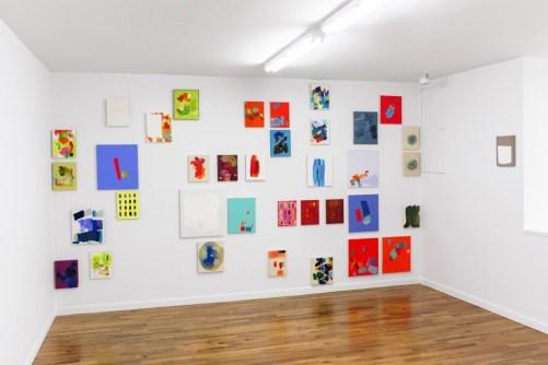 """Installation view of """"Brandon Anschultz"""" at Regards Gallery. / Photo by  Eileen Mueller."""