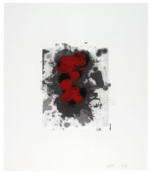 "Christopher  Wool. ""Untitled (17A),"" 2014. Monotype over photogravure, 22 x 18 7/8 inches."