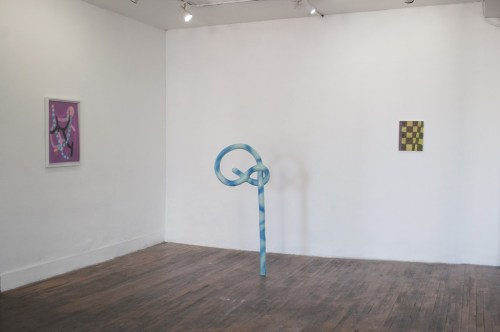 "Installation view, ""Awkward Dimensions,"" 2015."