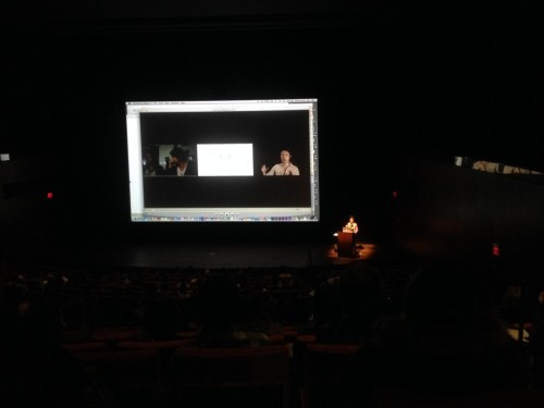 Hito Steyerl at the Reva and David Logan Center for the Artsm, University of Chicago. /Photo: Dave Lloyd.