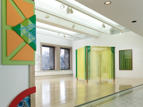 """Installation view of """"Present Standard"""" at the Chicago Cultural Center, 2016."""