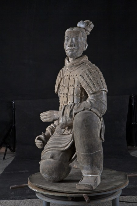 """Kneeling Archer"" from © Shaanxi Cultural Heritage Promotion Center and Emperor Qin Shihuang's Mausoleum Site Museum."