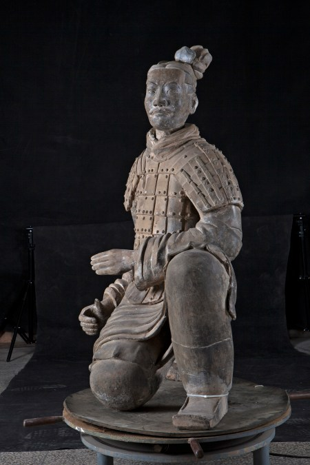 """""""Kneeling Archer"""" from © Shaanxi Cultural Heritage Promotion Center and Emperor Qin Shihuang's Mausoleum Site Museum."""