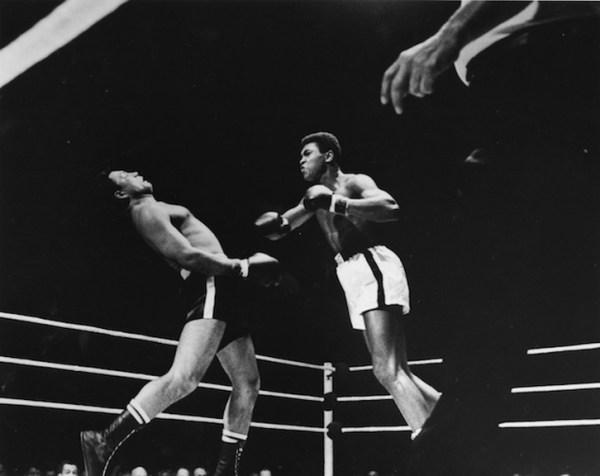 """Art Shay, """"TKO Punch By Ali,"""" 1961. Gelatin silver print, 16 x 20 inches"""