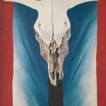 "Georgia O'Keeffe. ""Cow's Skull: Red, White, and Blue,"" 1931. The Metropolitan Museum of Art, New York. Alfred Stieglitz Collection, 1952. © The Metropolitan Museum of Art. Art Resource, NY."