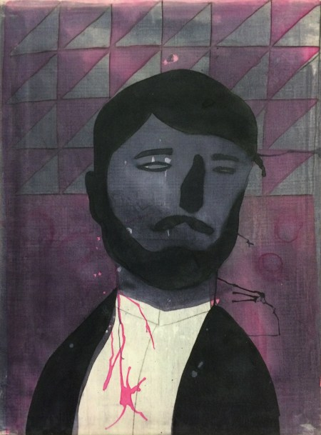"""Orkideh Torabi, """"Who's Next,"""" 2016. Dye on stretched cotton, 24 x 18 inches"""