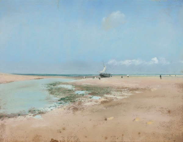 "Edgar Degas, ""Beach at Low Tide (Mouth of the River),"" 1869."