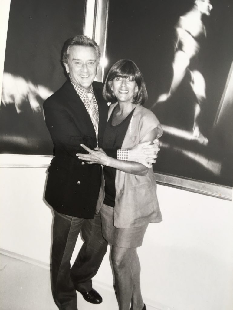Rhona Hoffman and Victor Skrebneski in the 1980s/Photo from the gallerists personal collection