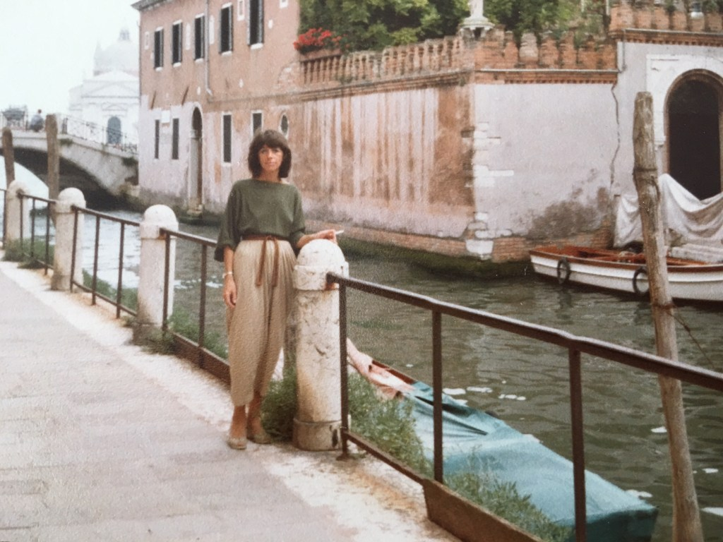 Rhona Hoffman in Venice/Photo from the gallerists personal collection