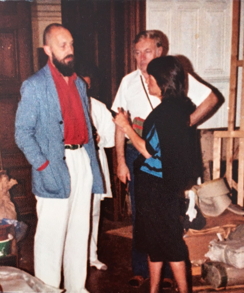 Rhona Hoffman with Richard Baselitz 1982/Photo from the gallerists personal collection