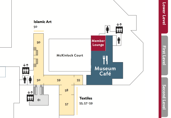 Map of the Lower Level of the Art Institute of Chicago (detail), Fall 2016