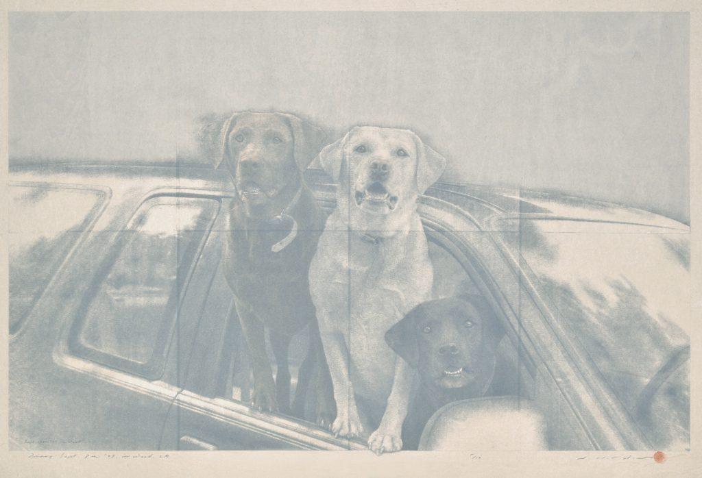 "Tetsuya Noda, ""460 Diary; Sept. 12th, '07,"" 2007. Woodcut and silkscreen, 21 x 33 inches"