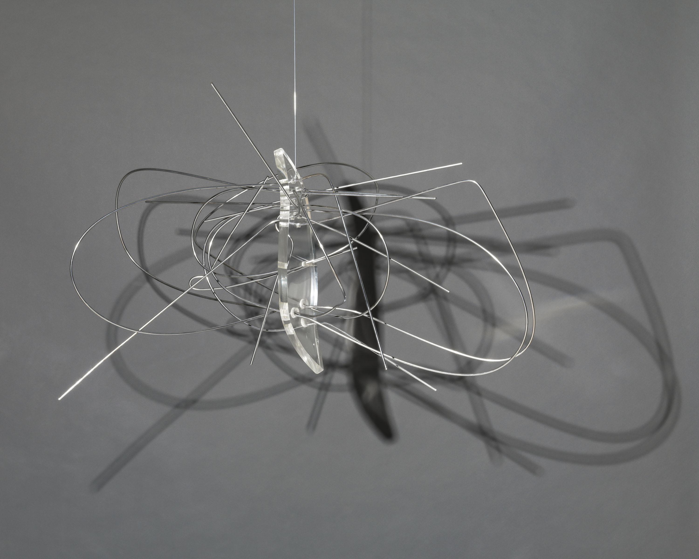 "László Moholy-Nagy, ""Dual Form with Chromium Rods,"" 1946."