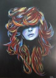 rainbow hair porcelainskin