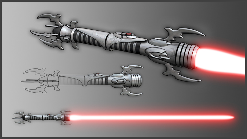 sith lightsaber by brood