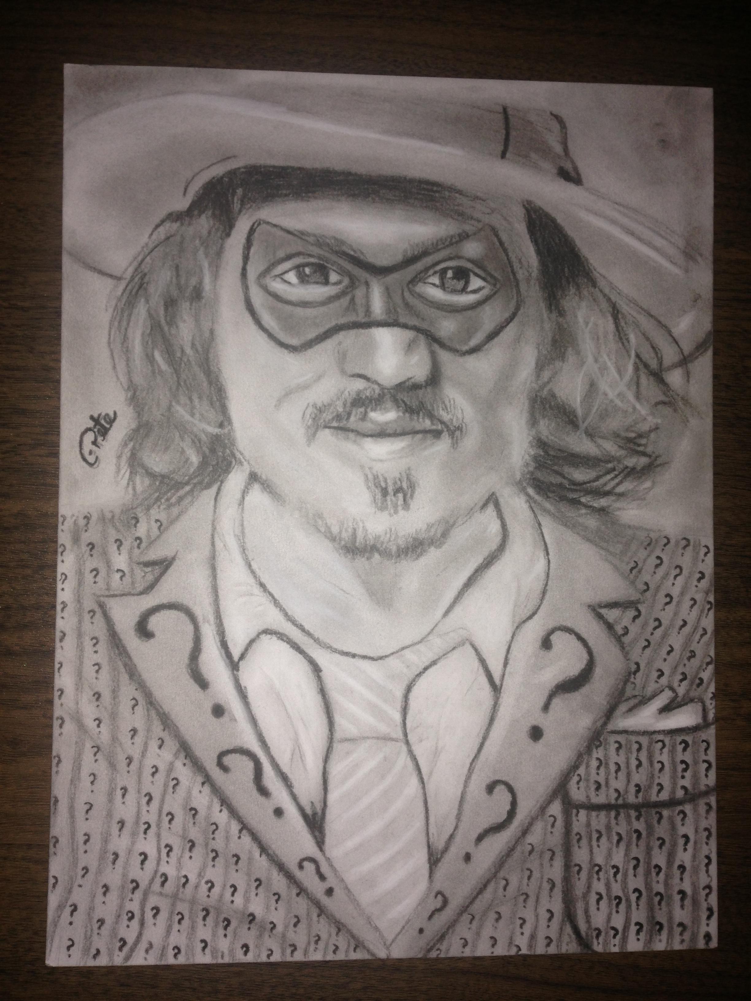 Johnny Depp Riddler Cpeteproductions Newgrounds