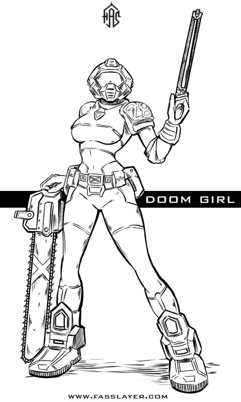 Doom girl fasslayer newgrounds, coloring pages love