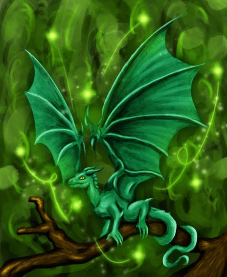 Nice Anime Wallpaper Little Green Dragon By Maszrum On Newgrounds