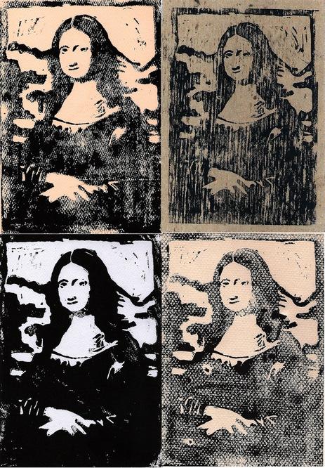 Mona Lisa Linocut By Llamamessanger On Newgrounds