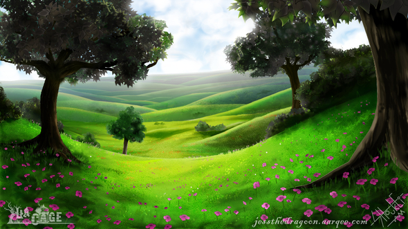 Anime Sunset Wallpaper Peaceful Meadow By Jess The Dragoon On Newgrounds