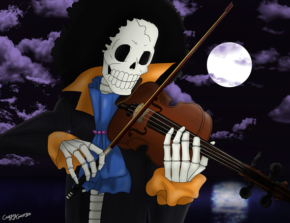 One Piece Wallpaper Hd The Skeleton Musician Brook By Crazycreators On Newgrounds