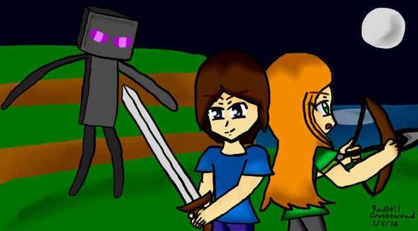 Minecraft Steve Amp Alex Fan Art By MrRussellgro On