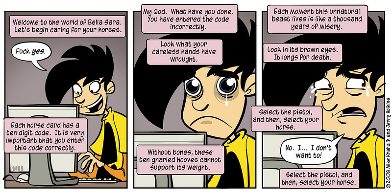http://www.penny-arcade.com/comic/2008/5/26/  - by Mike Krahulik and Jerry Holkins
