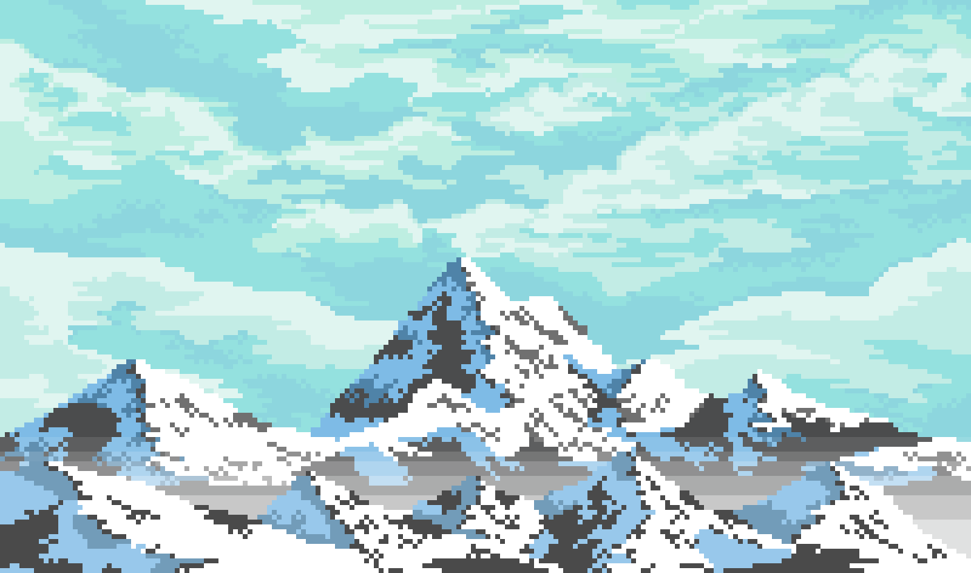 Pixilart Just Mountains By 8 Bit Adventure