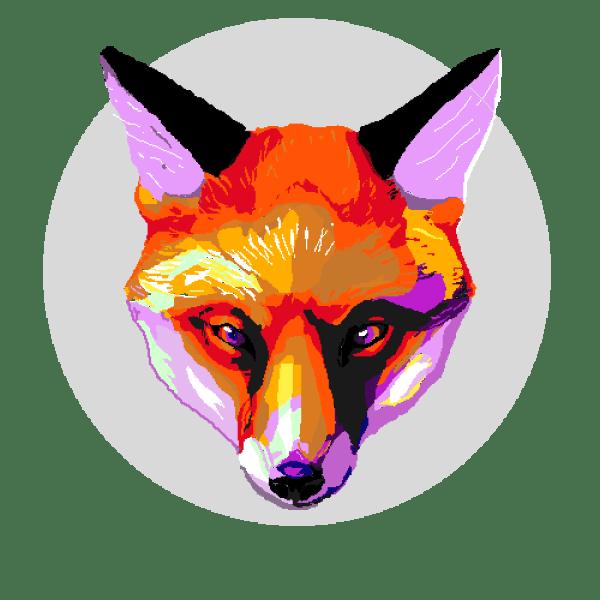 Pixilart - Colorful Fox Black-fox