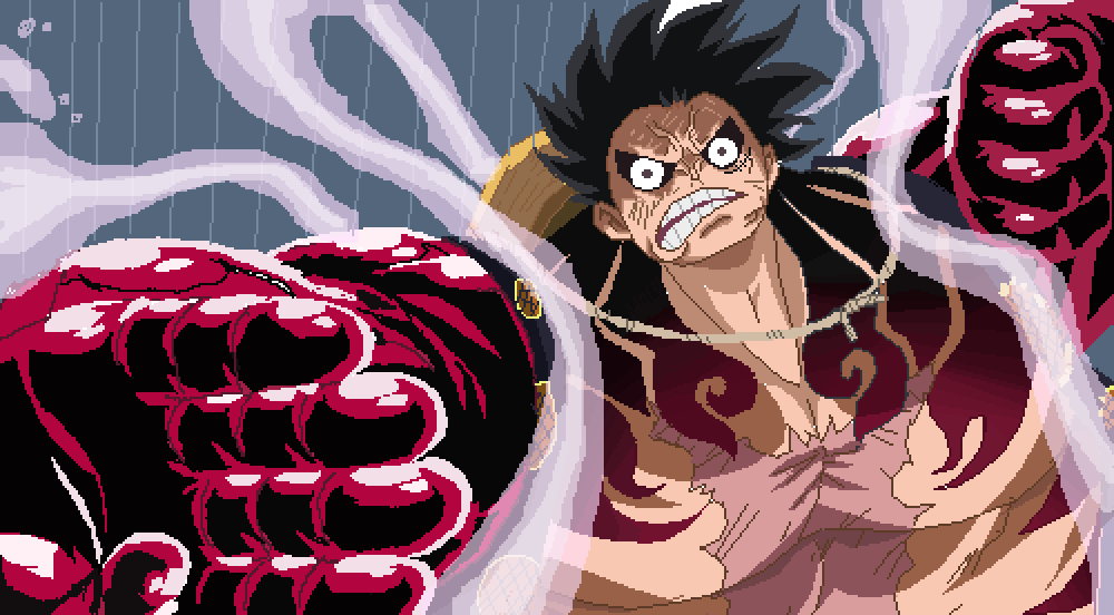 Gear fourth is a technique first seen in luffy's battle against donquixote doflamingo. Luffy Gear 4