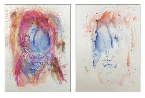 Title: for a friend  Technic : oil pastel, watercolor   Size: each 297mm X 420mm 2016