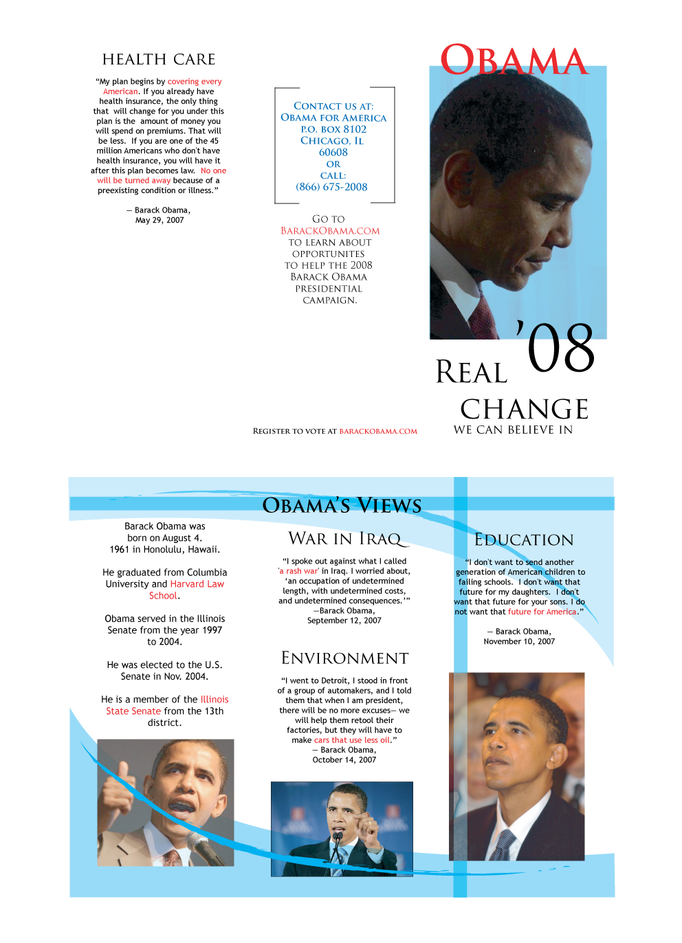 Students Learned To Create A Tri-Fold Brochure And To Maintain Consistency.  Students Researched And Created A Brochure For The Political Candidate Of  Their