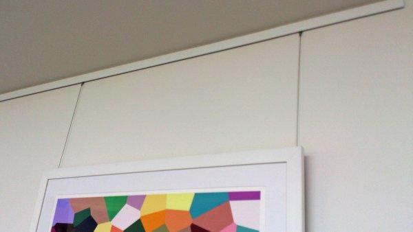Slimline Hanging System, Sunland, Fine Art Hanging, Specialist Art Hanging, Picture Hanging, Picture hanging Gold Coast.