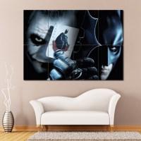 Batman vs Joker Block Giant Wall Art Poster