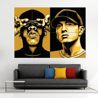 Jay Z and Eminem Block Giant Wall Art Poster
