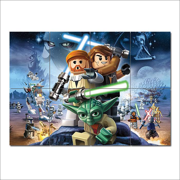 Lego Star Wars Block Giant Wall Art Poster