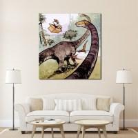 Calvin and Hobbes Dinosaur Block Giant Wall Art Poster