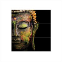 Colorful Buddha Block Giant Wall Art Poster