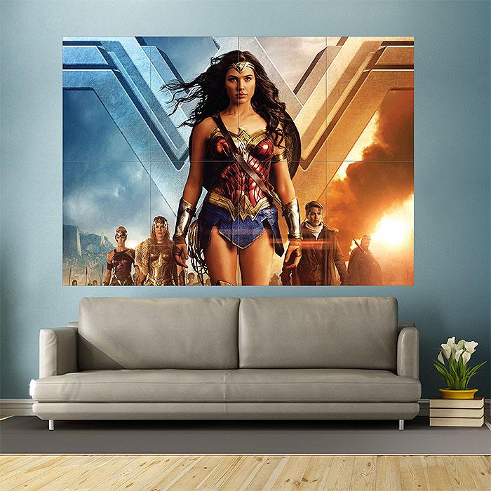 wonder woman block giant wall art poster