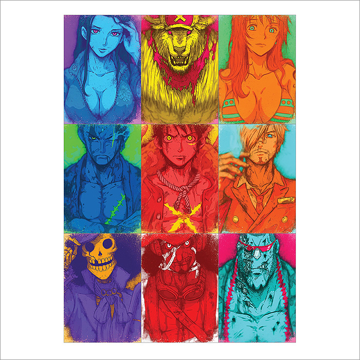 One Piece Characters Block Giant Wall Art Poster