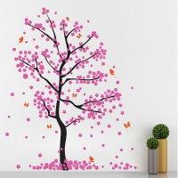Fall Cherry Blossom Tree Vinyl Wall Art Decal