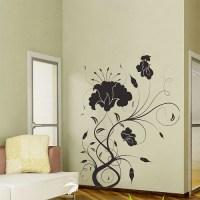 Flower Swirl Vinyl Wall Art Decal