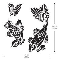 Koi Carp Fish Vinyl Wall Art Decal