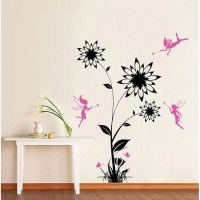 Flower with Fairies Vinyl Wall Art Decal
