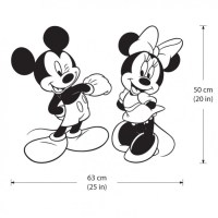 Disney Character Mickey and Minnie Mouse Vinyl Wall Art Decal