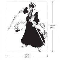 Kenpachi Zaraki from Bleach Anime Vinyl Wall Art Decal