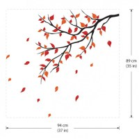 Autumn Leaf Fall Tree Branch Vinyl Wall Art Decal