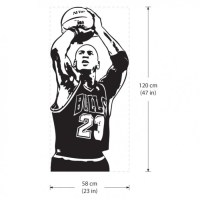 Michael Jordan Basketball Shoot Vinyl Wall Art Decal