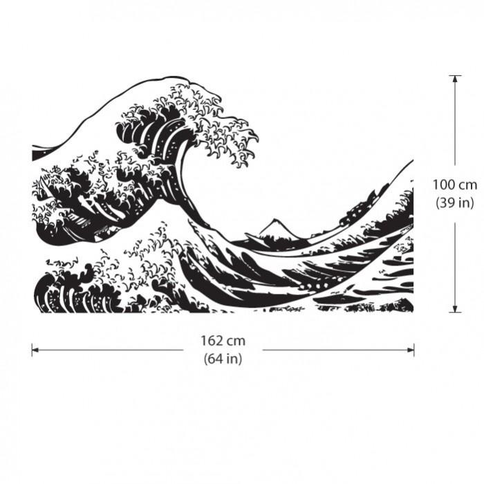 Die große Welle vor Kanagawa Wandaufkleber Wandtattoo