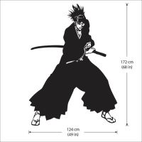 Renji Abarai from Bleach Vinyl Wall Art Decal